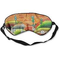 Sleep Eye Mask Orange Sky Sheep Crop Lightweight Soft Blindfold Adjustable Head Strap Eyeshade Travel Eyepatch preisvergleich bei billige-tabletten.eu