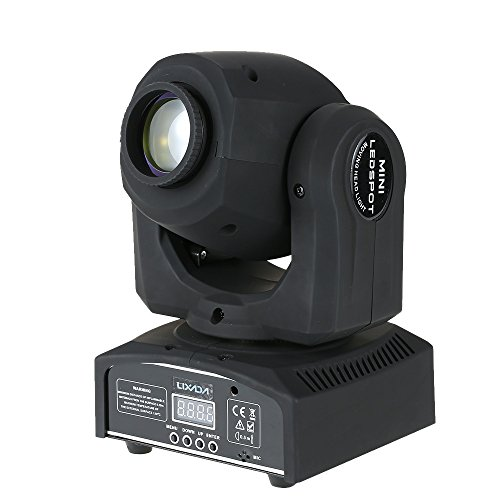 Lixada 50W DMX-512 LED Mini Moving Head RGBW mit 9/11 Kanal Master-Slave, Sound-Aktivierung, Automatikbetrieb für Party Disco Show