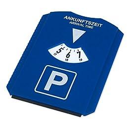 achilles Parchimetro, disco di parcheggio, raschietto per ghiaccio, con 3 gettoni Ek, 15,5 cm x 12 cm x 0,5 cm