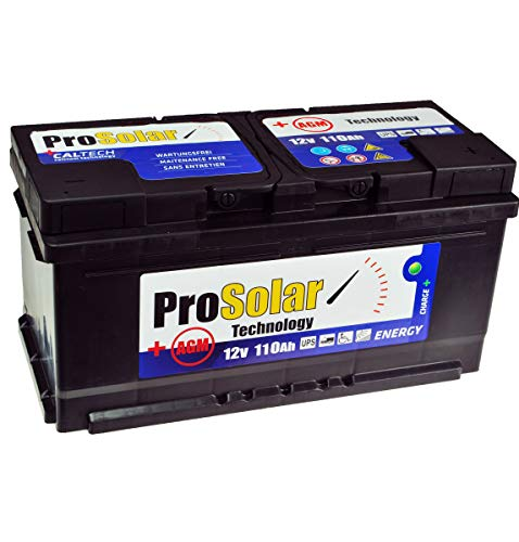 Batteria solare AGM 110 Ah USV 12 V ProSolar, non richiede manutenzione, 150 Ah 140 Ah 100 Ah GEL