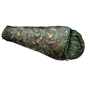 41Fhhe83yXL. SS300  - Highlander Cadet 350 Junior Camping Sleeping Bag British DPM Camo
