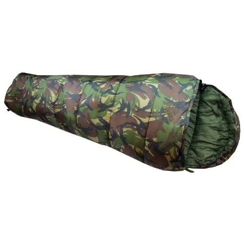 41Fhhe83yXL. SS500  - Highlander Cadet 350 Junior Camping Sleeping Bag British DPM Camo