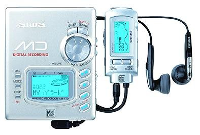 Aiwa AM-F72 tragbarer MiniDisc-Player und Rekorder