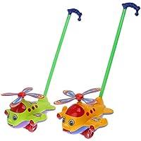 Mini Aeroplano Carretto A Mano Carrozzina Dei Bambini Spinta Giocattoli - Colore Casuale - Amore Piccolo Attività Giocattoli