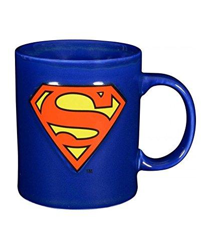 Superman Kaffee Prägung Logo, 280ml-0122049 Tasse, Keramik, blau, 12 x 7.5 x 9.3 cm