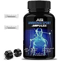 AmmoniaSport Sales olorosas atléticas - Ampollas (20) - Inhalador de amoniaco - [Inhalantes de sal / amoniaco que huelen]