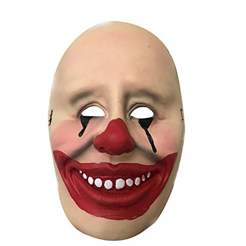 WYDM Horror Grimasse Clown Maske Halloween Weihnachten Latex Lustige rote Lippen Clown Maske
