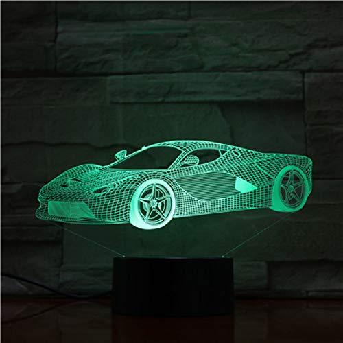 NSYW Fernbedienung Super Auto Nachtlicht Led Vision Stereo Acryl Panel Tischdekoration 7 Farben Ändern Schlafzimmer Lampe Vision Flat Panel