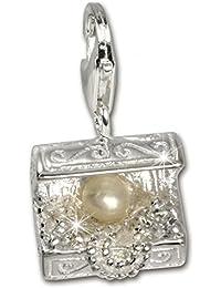 f9617f4842ab Sueño de plata 925  de ley Charm trep Plata colgante para pulsera cadena  pendientes