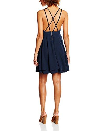VERO MODA Damen Kleid Vmwanda Sl Short Dress Ga Blau (Total Eclipse)