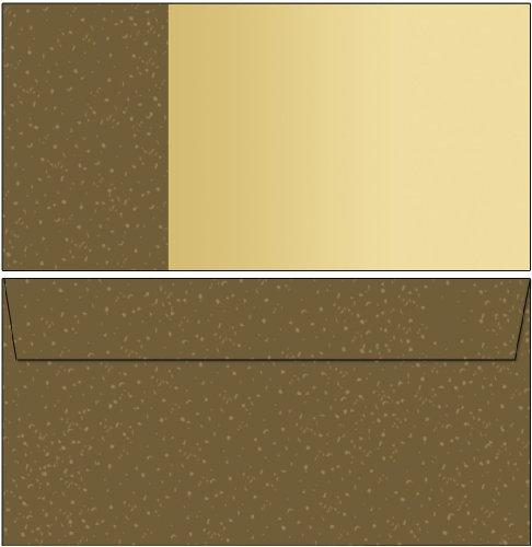 Motiv - Briefumschläge braun / beige 50 Stück DIN lang ohne Fenster 6382