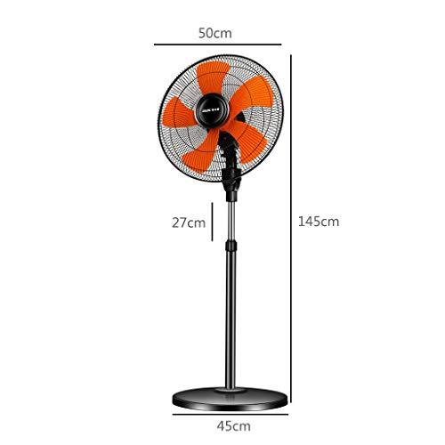 MU Home Wohnzimmer Schlafzimmer Ventilator-Ventilator Elektroboden Vertikal 18 Zoll/Fünf-Blatt-Flügel/Mechanische Steuerung Einstellbar DREI- / Sechsgang-Windgeschwindigkeit Höhenverstellbar Hoch