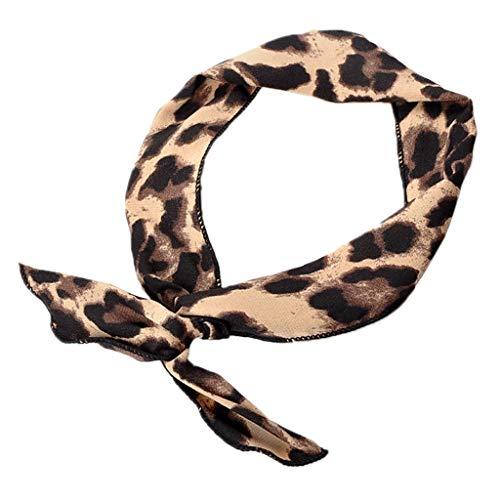 Jiamins Damen Mädchen Kaninchen Ohren Eisendraht Stirnband, Leopardenmuster Bunte Bogen Stirnband, Elastische Twist Lässige Sport Tanzen Turban Kopf Wickel