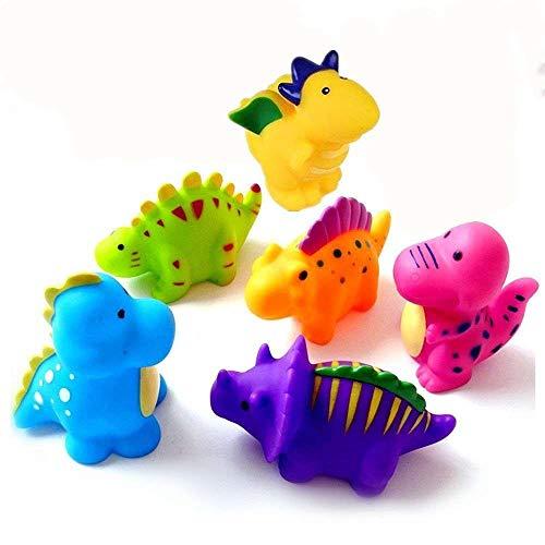 Baby Badespielzeug Schwimmende Badespielzeug,6 Stück Badewanne Spielzeug Silikon Bad-Dinosaurier-Spielzeug Für Baby Kinder (Dinosaurier-bad)