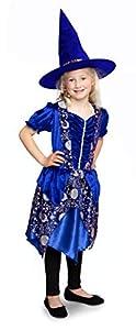 Folat 63435 Dark Moon - Vestido de bruja con sombrero (talla S), color azul
