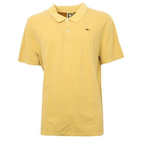 B3310 polo uomo G-STAR RAW maglia giallo scuro t-shirt man [XL]