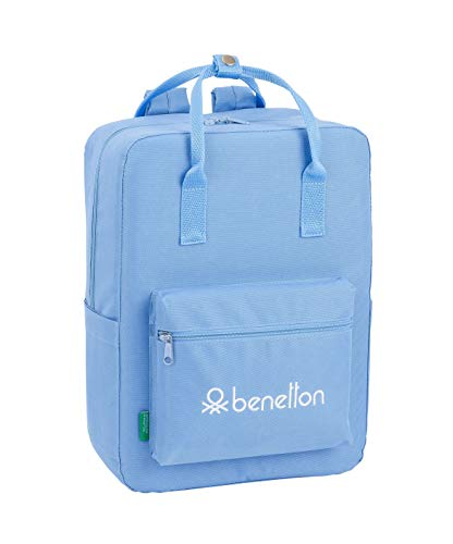 Benetton Light Blue Mochila con Asas