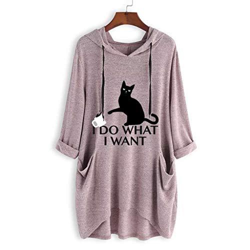 Beikoard_Camiseta Estampado Oreja Gato Capucha