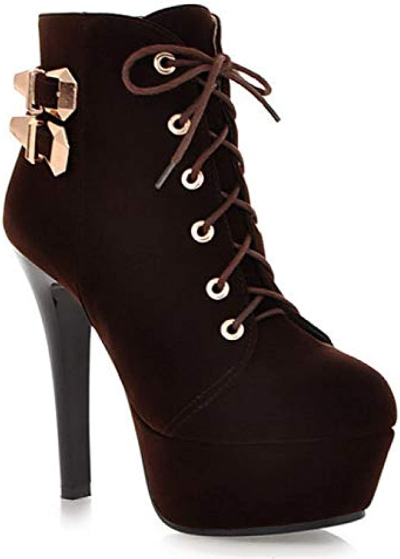 Stivali Da Donna Stivaletti Casual Scarpe Chunky Heel Short stivali Stivali Tacco Alto Martin | Outlet Online  | Scolaro/Ragazze Scarpa
