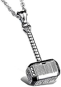 Ostan – 316L acciaio inossidabile gotico catenina con pendente da uomo - nuovo gioielli moda, argento e nero