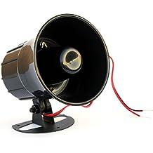 Taikuwu alarma 15 W 12 V con cable cuerno altavoz sirena cuerno alarma de seguridad a