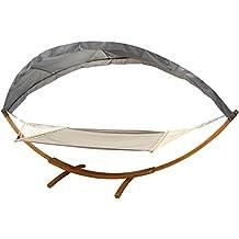 GDWorld Hängematte Mit Dach Und Holzgestell 200 X150 Cm Anthrazit