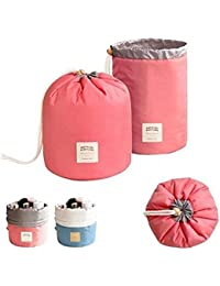 Goank Bucket Barrel Shaped Travel Dresser Pouch Cosmetic Makeup Bag For Girl Women (Pack Of 2)