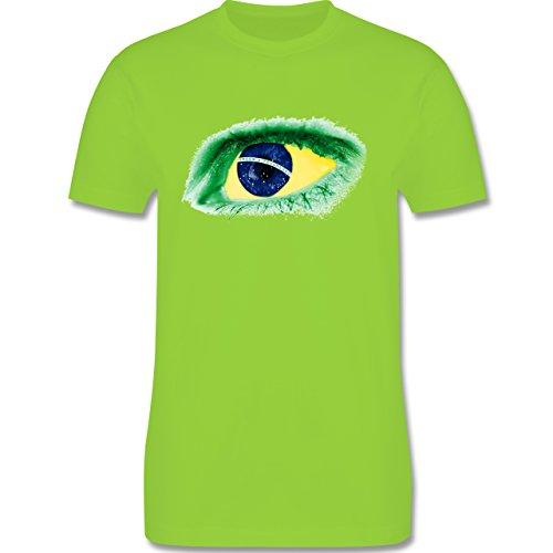 Länder - Auge Bodypaint Brasilien - Herren Premium T-Shirt Hellgrün