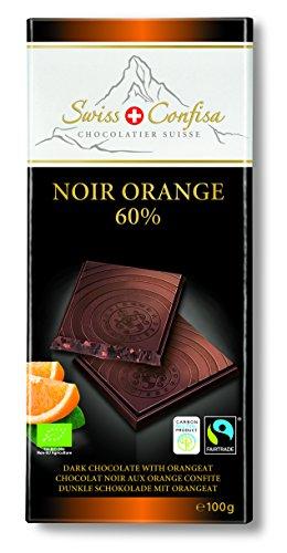 Swiss Confisa Schokolade Noir Orange 60 prozent, 5er Pack (5 x 100 g)