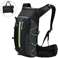 Mochila de ciclismo impermeable, Mochila de bicicleta plegable, transpirable y liviana, paquete de hidratación con bolsillo en la cintura para deportes al aire libre, montañismo que viaja 10L