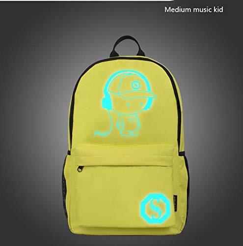 CE-LXYYD Computertaschenmittelschülertasche, männlicher leuchtender Rucksack im Freien,6 -