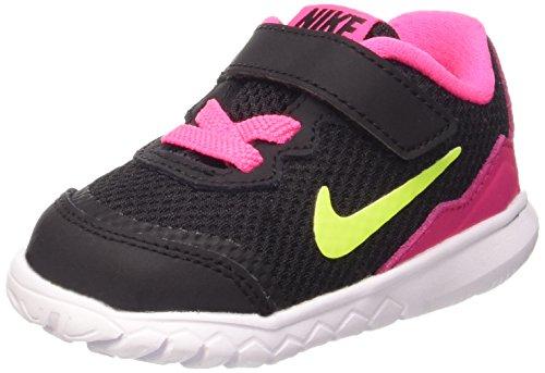 Nike Flex Experience 4 (Tdv), Chaussures de Sport Fille, Noir / Rose