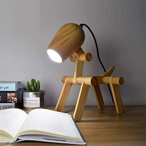 Nachttischlampe Nachttisch Schreibtischlampe Nachttischlampe Nordic Kreative Seltsame Tischlampe Einfache Moderne Zeitgenössische Persönlichkeit Reines Holz Schreibtisch Stil Kindermode Warm Dekorati -