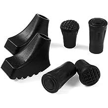 Aidonger seis unidades de puntas de repuesto para bastones de Senderismo para bastones de Senderismo para bastones de trekking, negro