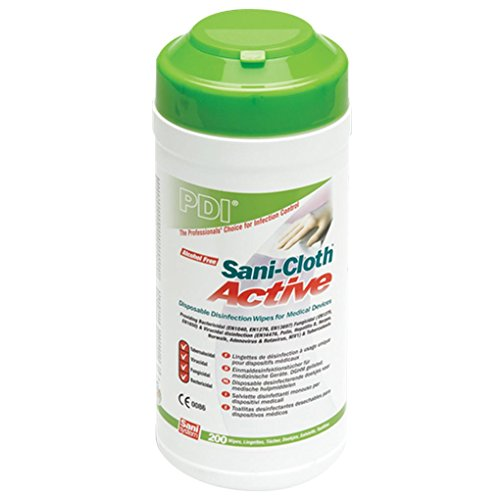 PDI Sani-Cloth Active Alcohol Free Wipes, Canister of 200