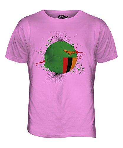 CandyMix Sambia Fußball Herren T Shirt Rosa