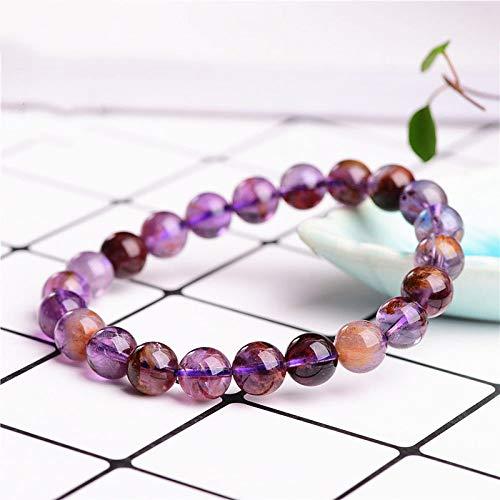 Weiduoli Kristall Armband Natural Purple Crystal Ball mit Armband Armband Unisex-Schmuck - Armreif Purple Jade