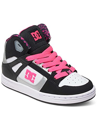 DC Shoes  Rebound, Sneakers Basses Fille Noir - Black/White/Pink