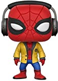 Funko- Heroes Pop Bobble Marvel Homecoming Spider-Man with Headphones, 21660