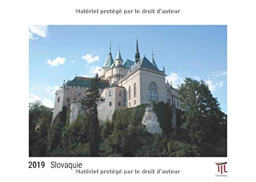 Slovaquie 2019 édition blanche calendrier mural timokrates calendrier photo cale par Timokrates Verl