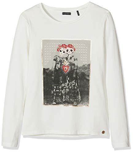 IKKS Junior tee Shirt Ml Tete De Mort Couronnees Camiseta, Beige (Blanc Cassé 19), 12 años (Talla del Fabricante: 12A) para Niñas