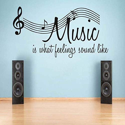 limicry Music Notes Aufkleber Ist W Hat Gefühl Sound Wie Wandkunstwand Vinyl Wandaufkleber Für Schlafzimmer Moderne Home Decor Abnehmbare Tapete