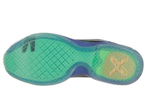 Nike Kobe X, Chaussures de Sport-Basketball Homme Multicolore - Morado / Verde / Gris (Emrld Glow / Rflct Slvr-Crt Prpl)