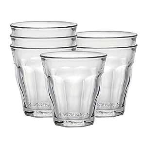 Duralex Picardie verre à eau 160ml, sans repère de remplissage, 6 verres