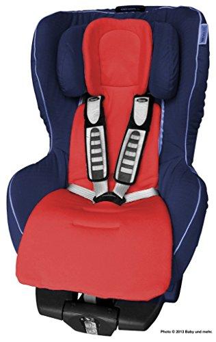 ByBoom - Sitzauflage / Sitzeinlage COMFORT mit Sommer- und Winterseite, Universal für Autokindersitz Gr. 0, 0+, I, II, III z.B. für Römer, Maxi-Cosi, für Kinderwagen und Buggy, Farbe:Rot