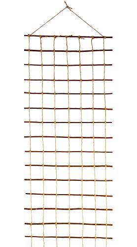Floranica® Rankhilfe, Rankgitter, Rankleiter aus gekochter natürlicher Weide und Juteschnur bedenkenlos für Gartengemüse und Tiere, Länge: 200 cm, Breite:50 cm