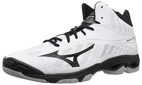 first rate 67b00 cac49 Mizuno Men s Wave Lightning Z4 Mid Volleyball Shoe, White Black, ...