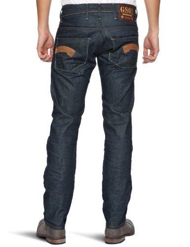 G-STAR RAW Herren Jeans Heller Low Straight Blau (Tumble Raw)