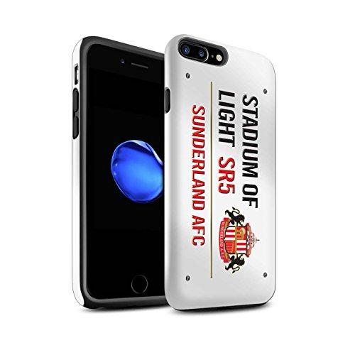 Offiziell Sunderland AFC Hülle / Glanz Harten Stoßfest Case für Apple iPhone 7 Plus / Weiß/Gold Muster / SAFC Stadium of Light Zeichen Kollektion Weiß/Rot