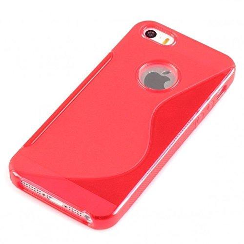 TPU Silikon Gel Skin Hot Pink Case S-Line Sline für Apple iPhone 5Case Cover